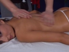 Those three gals fucked hard by their massage therapeutist after getting a soothing rubdown