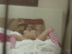 Legal Duration Teenager slut gets her constricted pink cum-hole terrorized by huge schlong